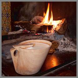 Cuajada tradicional elaborada por Restaurante Benta Miguel