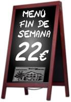Menú fin de semana - Restaurante Benta Miguel